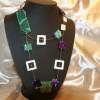 coll lunga da usare anche a doppio giro con agate,madreperle e perline di vetro