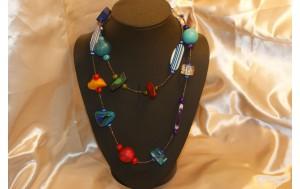 coll. lunga da usare anche a doppio giro con resine colorate e perline vetro